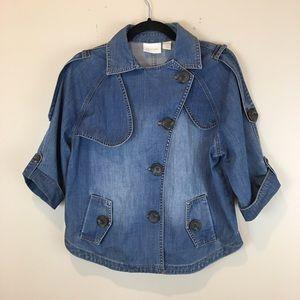 Chico's asymmetrical denim jackets size M